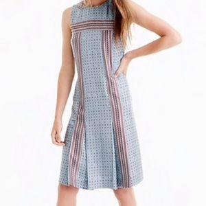 NWT J. Crew Foulard Print Silk Twill Dress